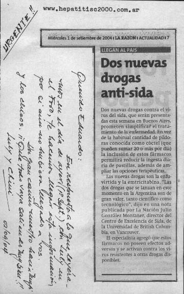 Nuevas drogas anti sida , imágen hepatitis c 2000