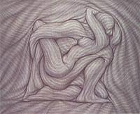 Pintura del artista Ernesto Bertani .