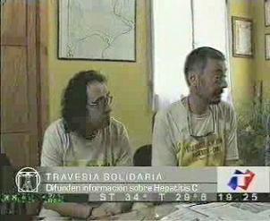 Reportaje de Tn Noticias , en la foto Xavi y Eduardo
