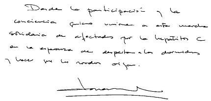 Mensaje de Joan Manuel Serrat en ocación de la Travesía H.C.V 2004