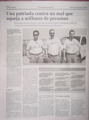 Arículo del Diario (periódico) Rio Negro de Febrero de 2004