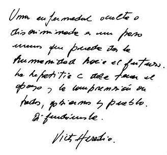 Mensaje de Víctor Heredia