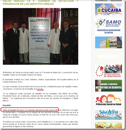 ministerio de salud buenos aires hepatitis