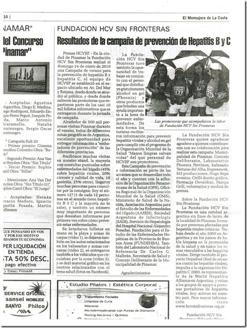 pinamar diario mensajero de la costa enero 2010 salud