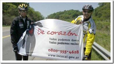 trasplantado argentino recorre en bicicleta hector manca
