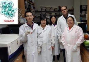 Dra. Jenny Yang, profesora de química de la Universidad Estatal de Georgia en Atlanta y su equipo