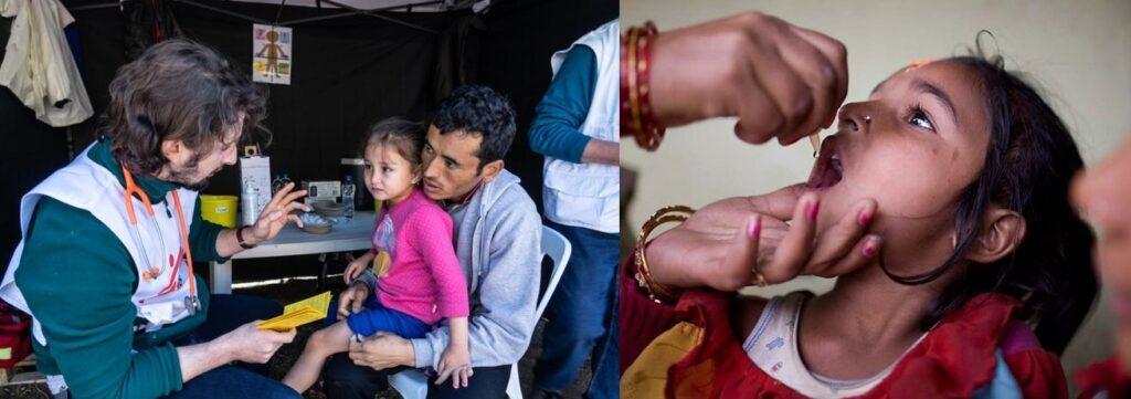 AVI y MSF G vacunando niños en comunidades alejadas